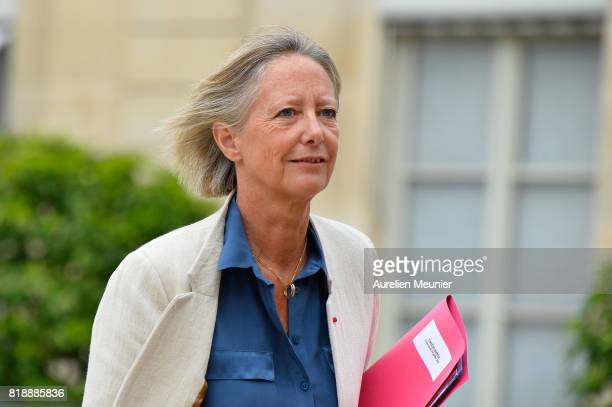 Sophie Cluzel Secretary of State in charge of People with Disabilities leaves the Elysee Palace after the weekly cabinet meeting with French...