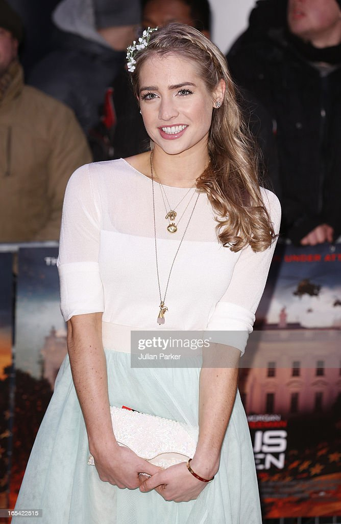 Sophie Colquhoun attends the UK Premiere of 'Olympus Has Fallen' at BFI IMAX on April 3, 2013 in London, England.