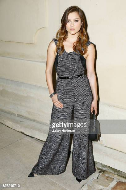 Sophie Cookson attends the Chanel 'Code Coco' Watch Launch Party as part of the Paris Fashion Week Womenswear Spring/Summer 2018 on October 3 2017 in...