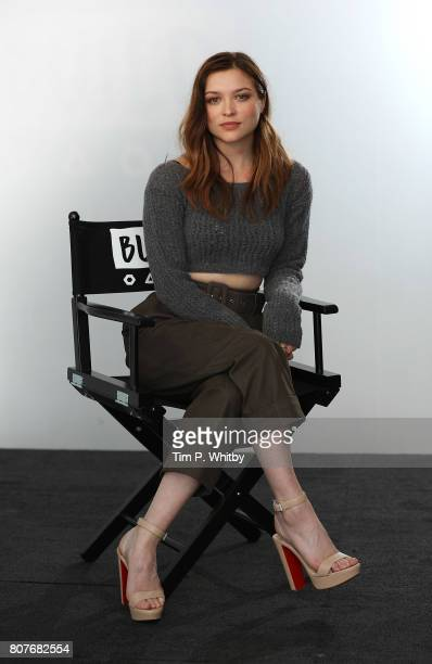 Sophie Cookson poses for a photo after speaking about the new Netflix show 'Gypsy' at BUILD LDN at AOL London on July 4 2017 in London England
