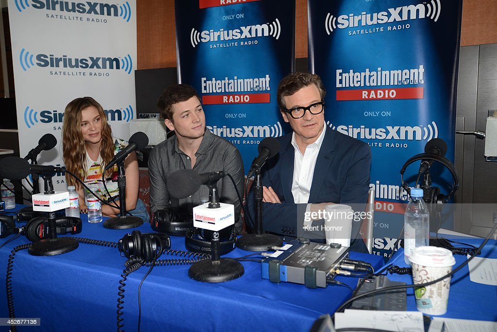 Sophie Cookson, Taron Egerton and Colin Firth are interviewed on SiriusXM's Entertainment Weekly Radio channel from Comic-Con 2014 at The Hard Rock Hotel on July 25, 2014 in San Diego, California.
