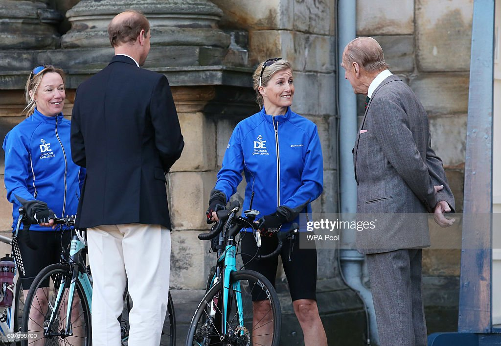 sophie-countess-of-wessex-and-a-team-of-riders-are-waved-off-by-of-picture-id607696700