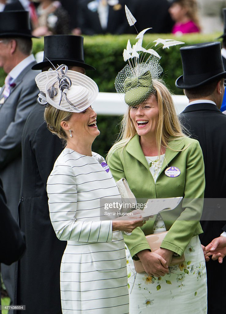 Sophie, Countess of Wessex (L) and Autumn Phillips attend day 2 of Royal Ascot at Ascot Racecourse on June 17, 2015 in Ascot, England.