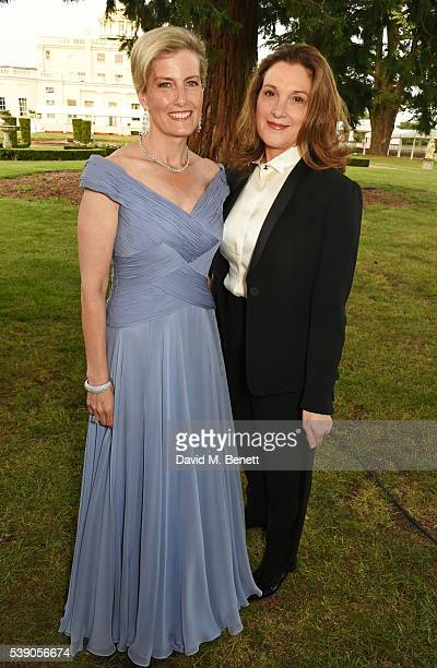 Sophie Countess of Wessex and Barbara Broccoli attend the Duke of Edinburgh Award 60th Anniversary Diamonds are Forever Gala at Stoke Park on June 9...