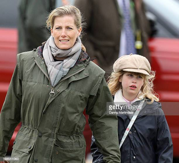 Sophie Countess of Wessex and daughter Lady Louise Windsor attend day 4 of the Royal Windsor Horse Show on May 11 2013 in Windsor England