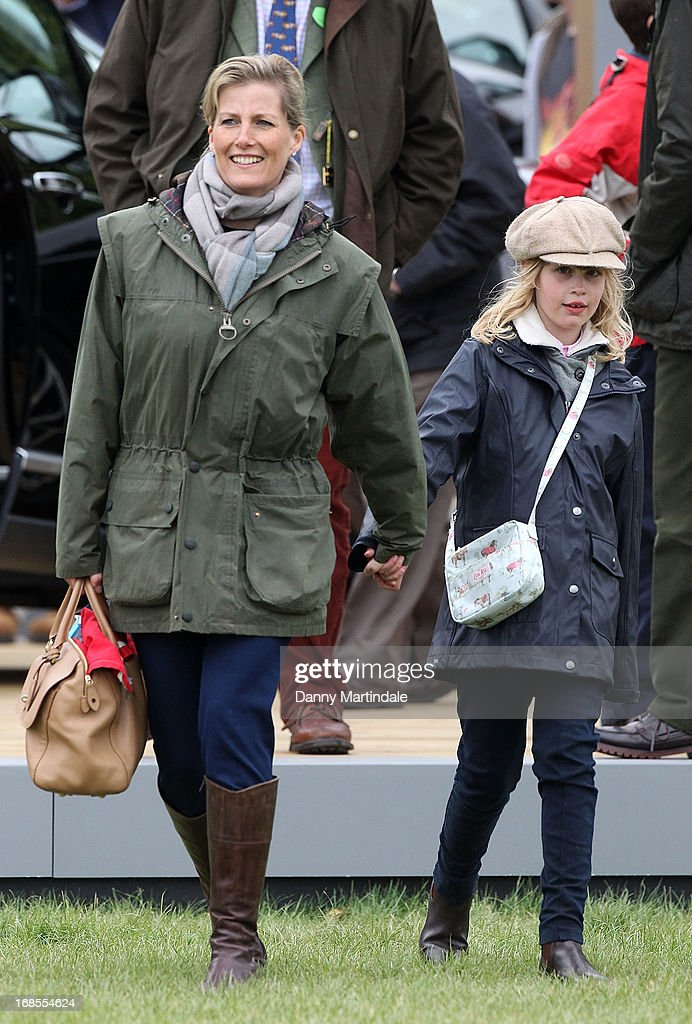 Sophie, Countess of Wessex and daughter <a gi-track='captionPersonalityLinkClicked' href=/galleries/search?phrase=Lady+Louise+Windsor&family=editorial&specificpeople=159482 ng-click='$event.stopPropagation()'>Lady Louise Windsor</a> attend day 4 of the Royal Windsor Horse Show on May 11, 2013 in Windsor, England.