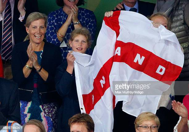 Sophie Countess of Wessex and daughter Lady Louise Windsor watch England beat The Netherlands in the gold medal match to win the Unibet EuroHockey...