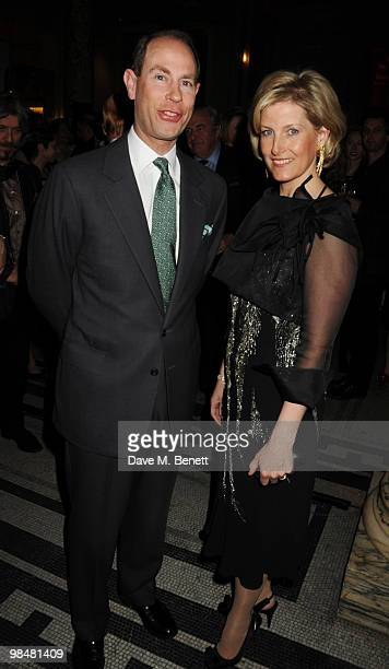 Sophie Countess of Wessex and Prince Edward Earl of Wessex attend the private view of exhibition 'Grace Kelly Style Icon' at the Victoria Albert...