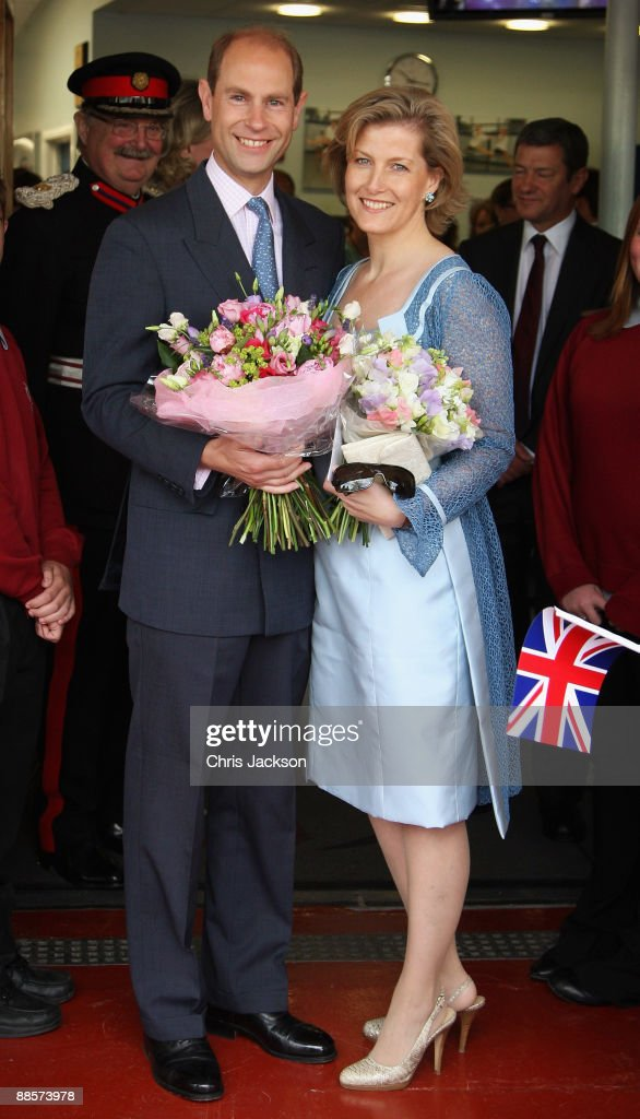 Sophie, Countess of Wessex and Prince Edward, Earl of Wessex pose for a photograph following a visit to Whitton School on June 19, 2009 in Whitton, England. Today is the tenth Anniversary of The Countess and Earl's marriage.