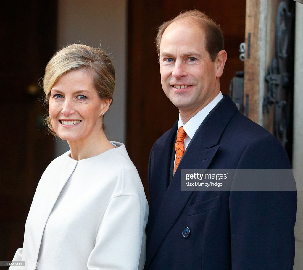 Sophie, Countess of Wessex and <a gi-track='captionPersonalityLinkClicked' href=/galleries/search?phrase=Prince+Edward+-+Earl+of+Wessex&family=editorial&specificpeople=160185 ng-click='$event.stopPropagation()'>Prince Edward</a>, Earl of Wessex visit the Tomorrow's People Social Enterprises at St Anselm's Church, Kennington on the Countess's 50th birthday on January 20, 2015 in London, England.