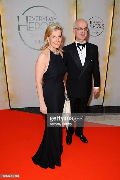 Sophie Countess of Wessex and Rodney Green Chairman of the Trusties St Johns Ambulance attend the starstudded St John Ambulance Everyday Heroes...