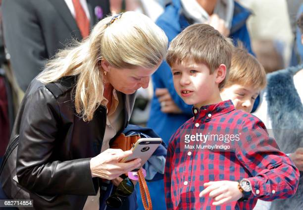 Sophie Countess of Wessex and son James Viscount Severn attend day 4 of the Royal Windsor Horse Show in Home Park on May 13 2017 in Windsor England