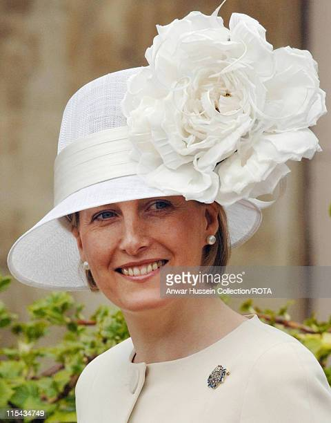 Sophie Countess of Wessex as she departs a church service at St George's Chapel Windsor Castle on Easter Sunday April 16 2006