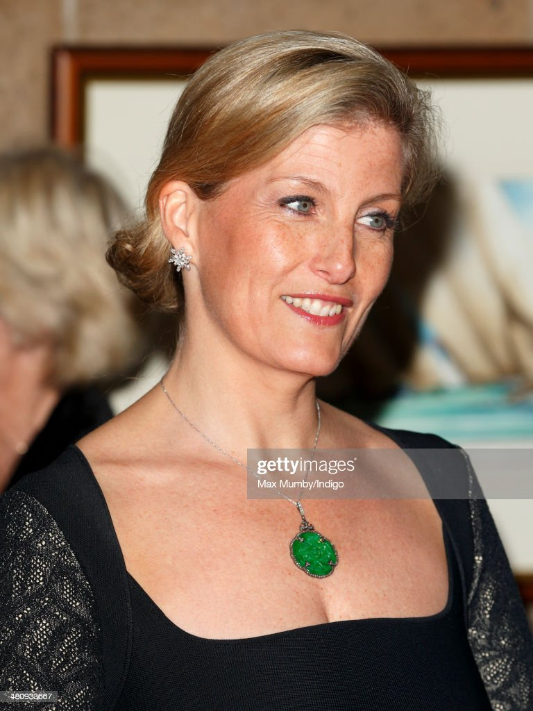 Sophie Countess of Wessex attends a gala fundraising dinner in aid of the Newport Minster Renewal Appeal at the Royal Yacht Squadron during a day of...