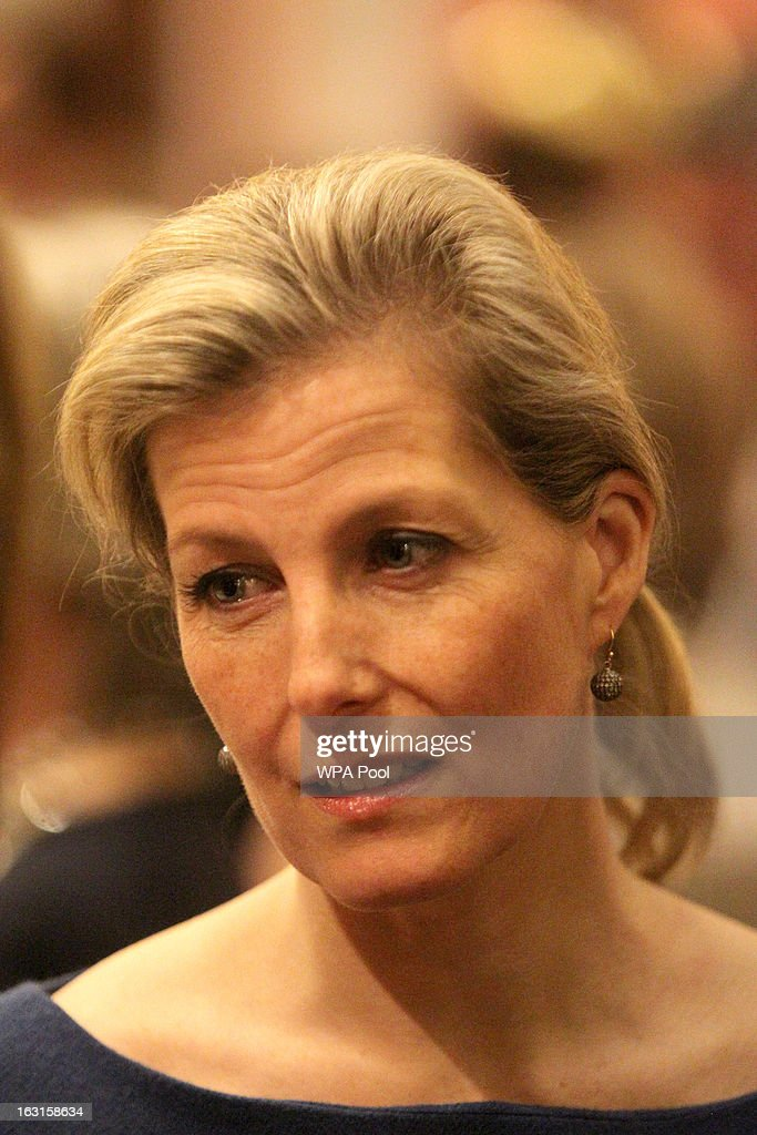 Sophie, Countess of Wessex attends a reception for MPs and MEPs at Buckingham Palace on March 5, 2013 in London, England. The reception was attended by Prince Philip, Duke Of Edinburgh and Sophie, Countess of Wessex.