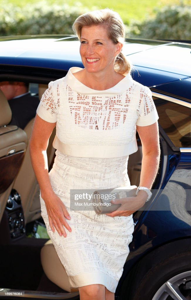Sophie, Countess of Wessex attends a reception for the Guildford Flower Festival at Guildford Cathedral during a day of engagements in Surrey on January 05, 2013 in Guildford, England.