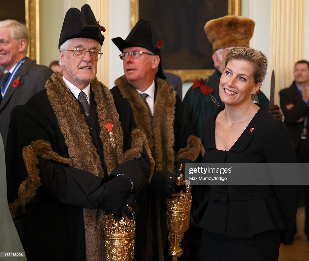 Sophie, Countess of Wessex attends a reception prior to accompanying her husband Prince Edward, Earl of Wessex to a service at Bath Abbey during which he was installed as Chancellor of the University of Bath on November 7, 2013 in Bath, England.