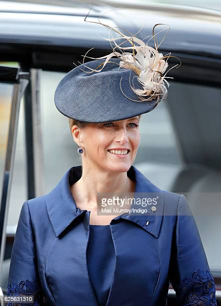 Sophie Countess of Wessex attends a Service of Thanksgiving to celebrate 60 years of The Duke of Edinburgh's Award at Westminster Abbey on November...