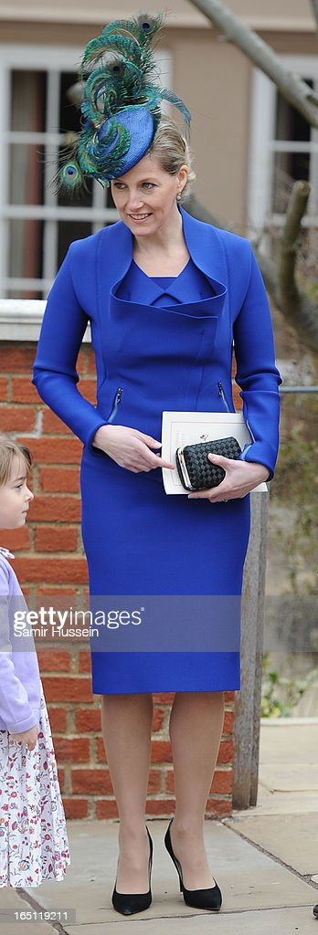Sophie, Countess of Wessex attends an Easter Matins Service at Saint George's Chapel in Windsor Castle on March 31, 2013 in Windsor, England.