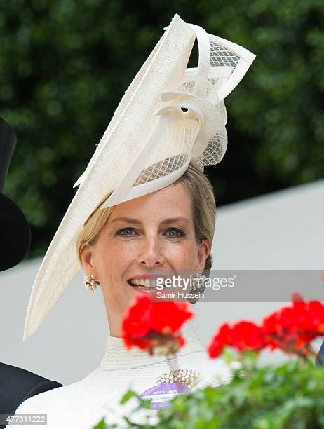 Sophie Countess of Wessex attends day 1 of Royal Ascot at Ascot Racecourse on June 16 2015 in Ascot England