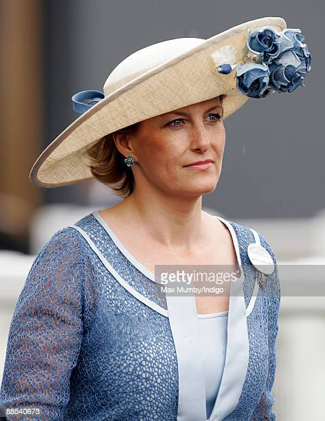 HRH Sophie Countess of Wessex attends day 2 of Royal Ascot at Ascot Racecourse on June 17 2009 in Ascot England