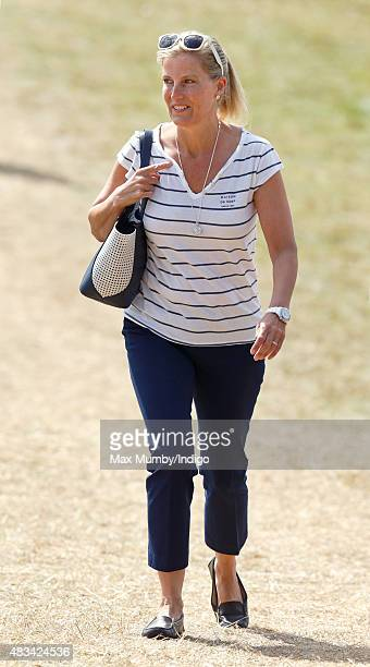 Sophie Countess of Wessex attends day 2 of the Festival of British Eventing at Gatcombe Park on August 8 2015 in Stroud England