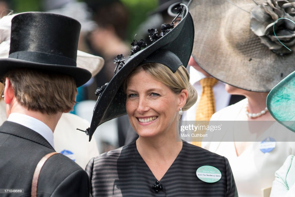 Sophie, Countess of Wessex attends Day 4 of Royal Ascot at Ascot Racecourse on June 21, 2013 in Ascot, England.