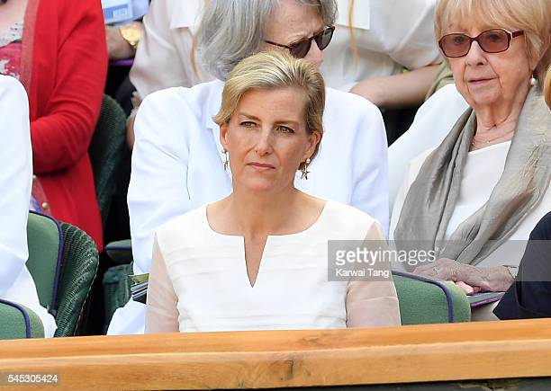 Sophie Countess of Wessex attends day ten of the Wimbledon Tennis Championships at Wimbledon on June 27 2016 in London England