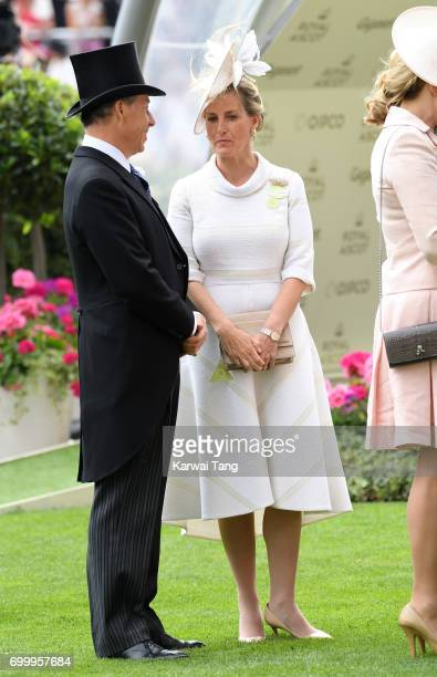 Sophie Countess of Wessex attends Ladies Day of Royal Ascot 2017 at Ascot Racecourse on June 22 2017 in Ascot England