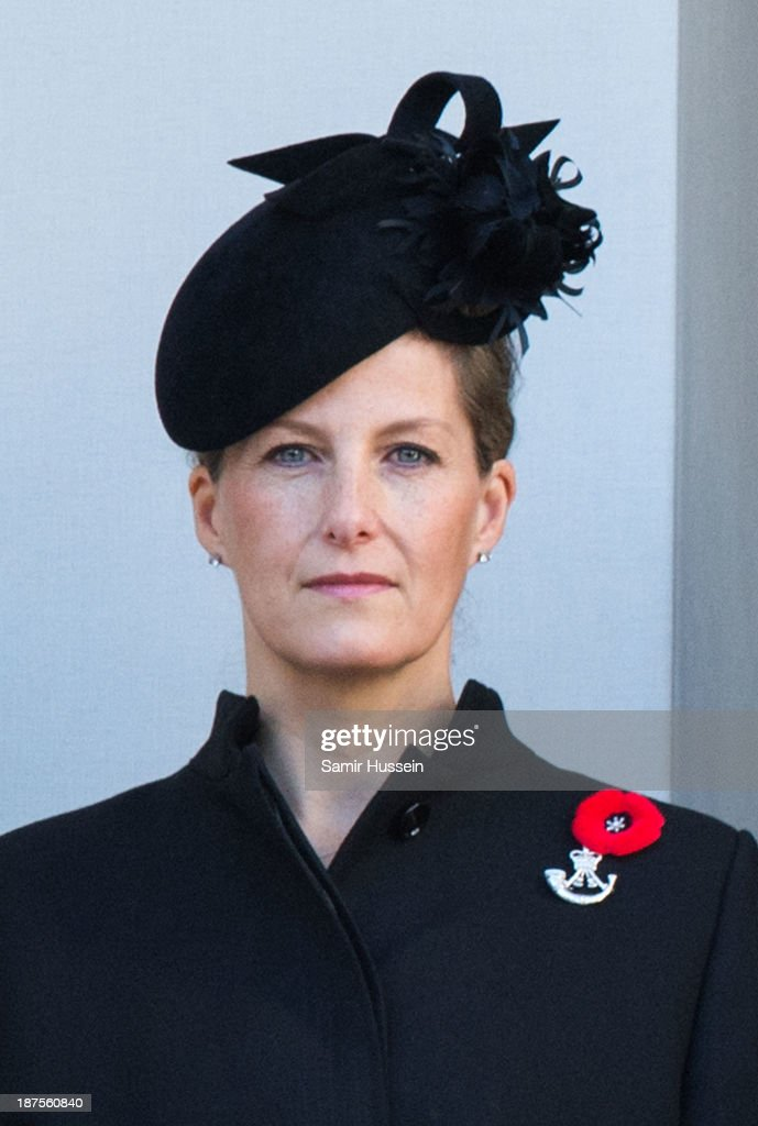 Sophie, Countess of Wessex attends Remembrance Sunday at the Cenotaph on Whitehall on November 10, 2013 in London, England.