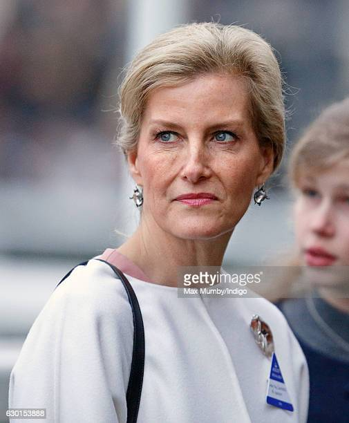 Sophie Countess of Wessex attends the Christmas Racing Meet at Ascot Racecourse on December 17 2016 in Ascot England