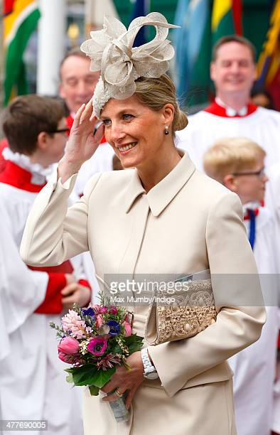 Sophie Countess of Wessex attends the Commonwealth Observance Service at Westminster Abbey on March 10 2014 in London England