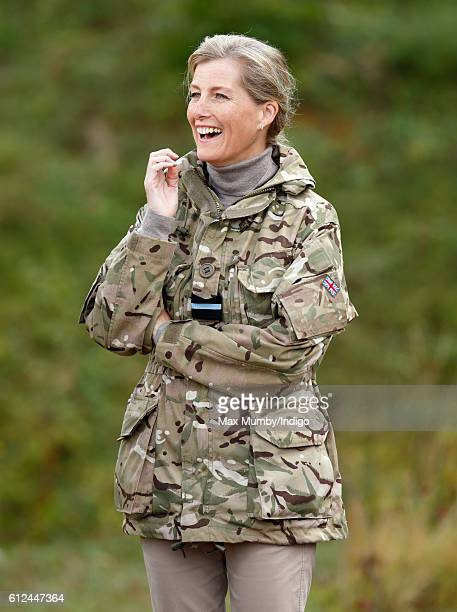 Sophie Countess of Wessex attends the Countess of Wessex Cup interservices competition at RAF Wittering on October 4 2016 in Stamford England The...