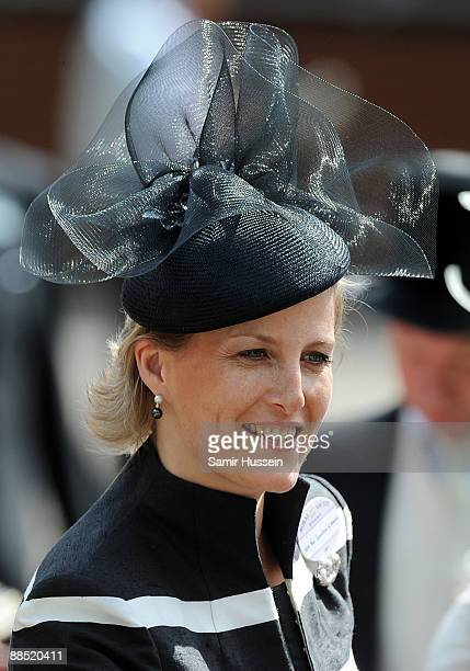 Sophie Countess of Wessex attends the first day of Royal Ascot 2009 at Ascot Racecourse on June 16 2009 in Ascot England