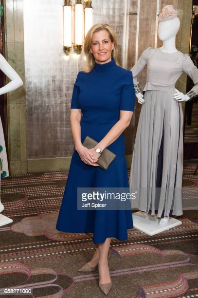 Sophie Countess of Wessex attends the Mencap charity lunch at Sheraton Park Lane Hotel on March 27 2017 in London United Kingdom