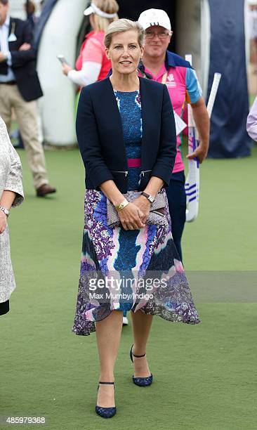 Sophie Countess of Wessex attends the Unibet EuroHockey Championships at the Lee Valley Hockey and Tennis Centre on August 30 2015 in London England