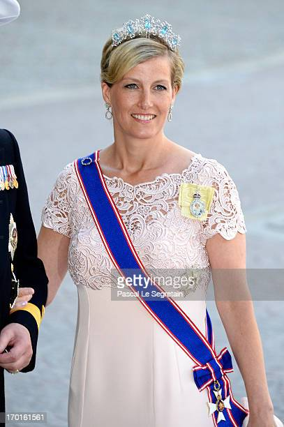 Sophie Countess of Wessex attends the wedding of Princess Madeleine of Sweden and Christopher O'Neill hosted by King Carl Gustaf XIV and Queen Silvia...