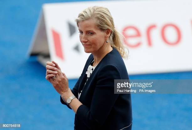 Sophie Countess of Wessex before the Men's World Hockey League Semi Final Final match at Lee Valley Hockey Centre London PRESS ASSOCIATION Photo...