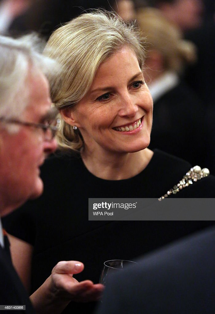 Sophie, Countess of Wessex during a reception to celebrate the patronages & affiliations of the Earl and Countess of Wessex hosted by Queen Elizabeth II at Buckingham Palace on February 10, 2015 in London, England