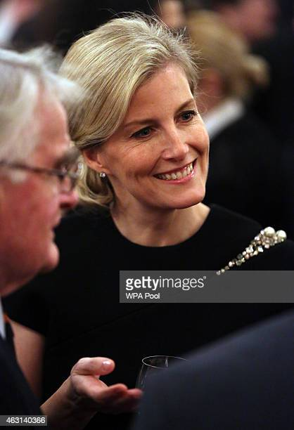 Sophie Countess of Wessex during a reception to celebrate the patronages affiliations of the Earl and Countess of Wessex hosted by Queen Elizabeth II...