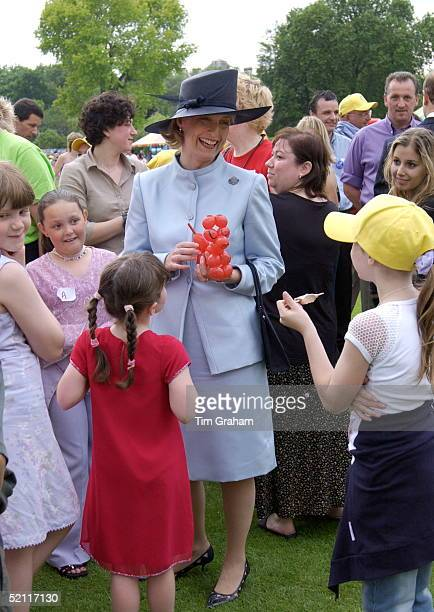Sophie Countess Of Wessex Holding A Balloon Dog Laughing And Joking With Children At A Party In The Garden Of Buckingham Palace To Mark The 50th...