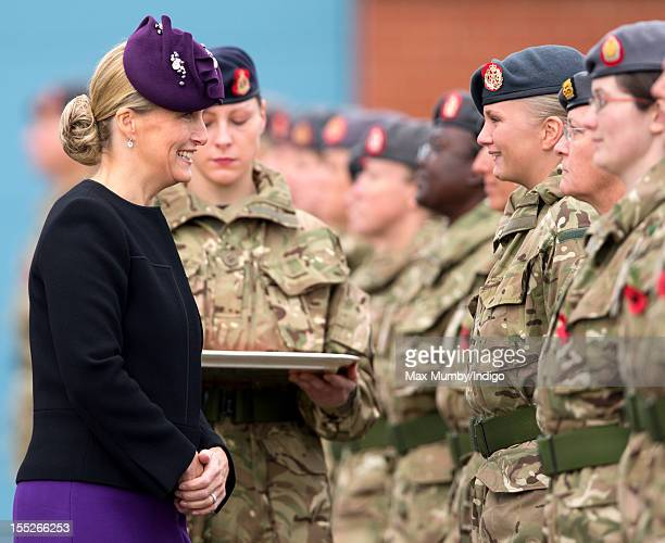 Sophie Countess of Wessex in her role as ColonelInChief of QARANC presents Afghanistan Operational Service Medals to Army nurses of the 22 Field...
