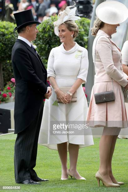 Sophie Countess of Wessex is seen in the Parade Ring as she attends Royal Ascot 2017 at Ascot Racecourse on June 22 2017 in Ascot England