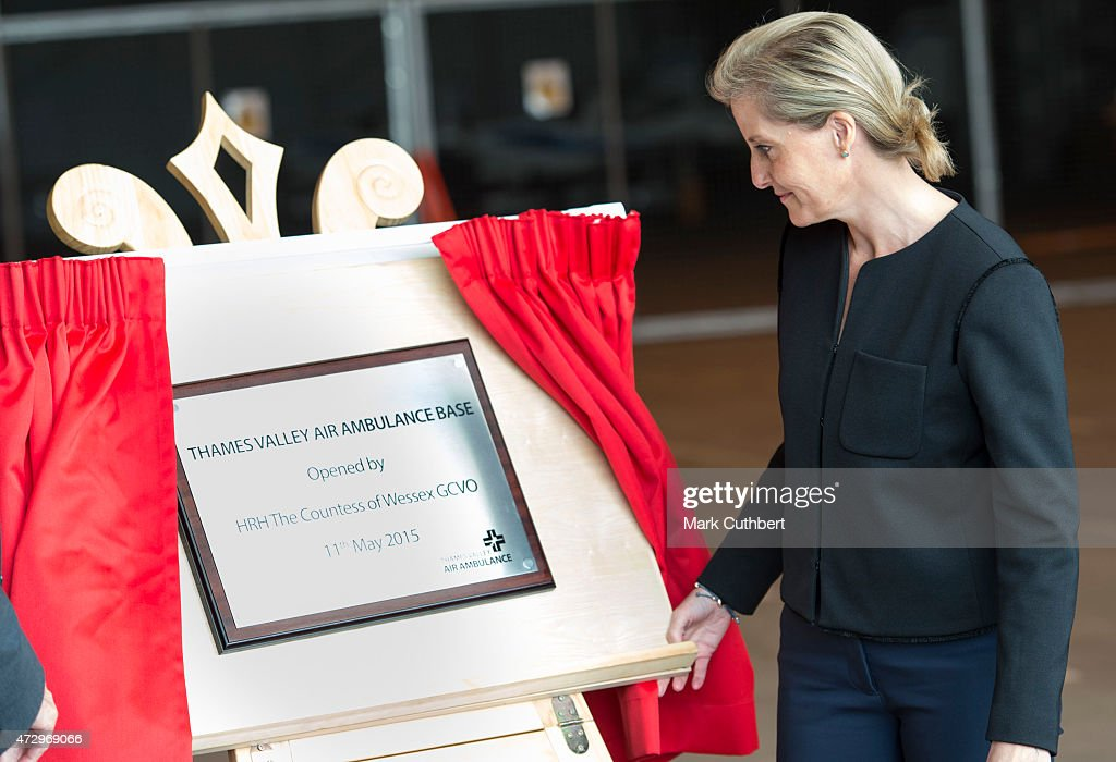 Sophie, Countess of Wessex officially opens the new air operating base at Thames Valley Air at RAF Benson on May 11, 2015 in Benson, England.