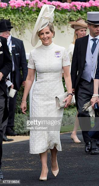 Sophie Countess of Wessex on day 1 of Royal Ascot at Ascot Racecourse on June 16 2015 in Ascot England