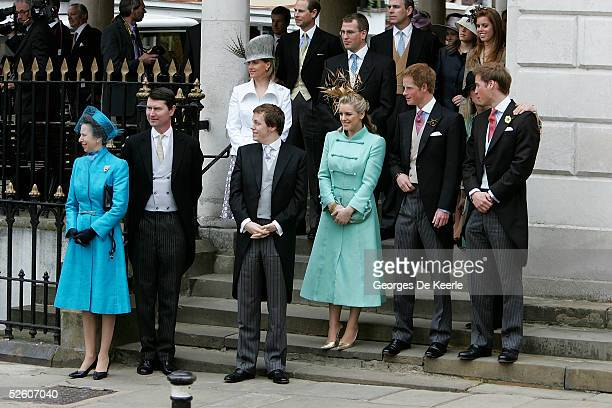 Sophie Countess of Wessex Prince Edward Earl of Wessex Peter Phillips Prince Andrew Duke of York Princess Eugenie and Princess Beatrice and Princess...