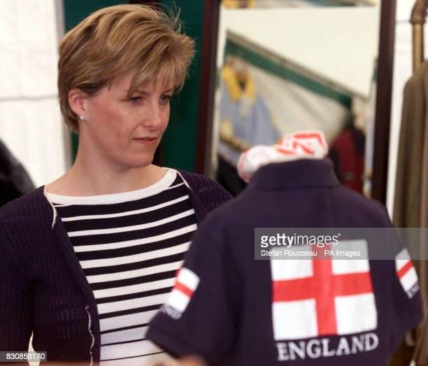 Sophie Countess of Wessex shops amongst the stalls at the Royal Windsor horse show in Windsor Berkshire The Duke of Edinburgh is expected to be...