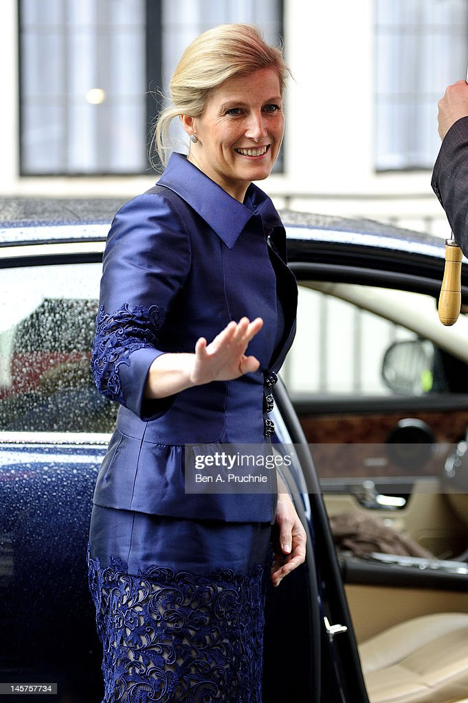Sophie Countess of Wessex visits King Edward VII hospital in Beaumont Street where Prince Philip, Duke of Edinburgh remains in due to an infection on June 5, 2012 in London, England. The Duke of Edinburgh has been under observation for a few days, subsequently missing the rest of the Diamond Jubilee celebrations.