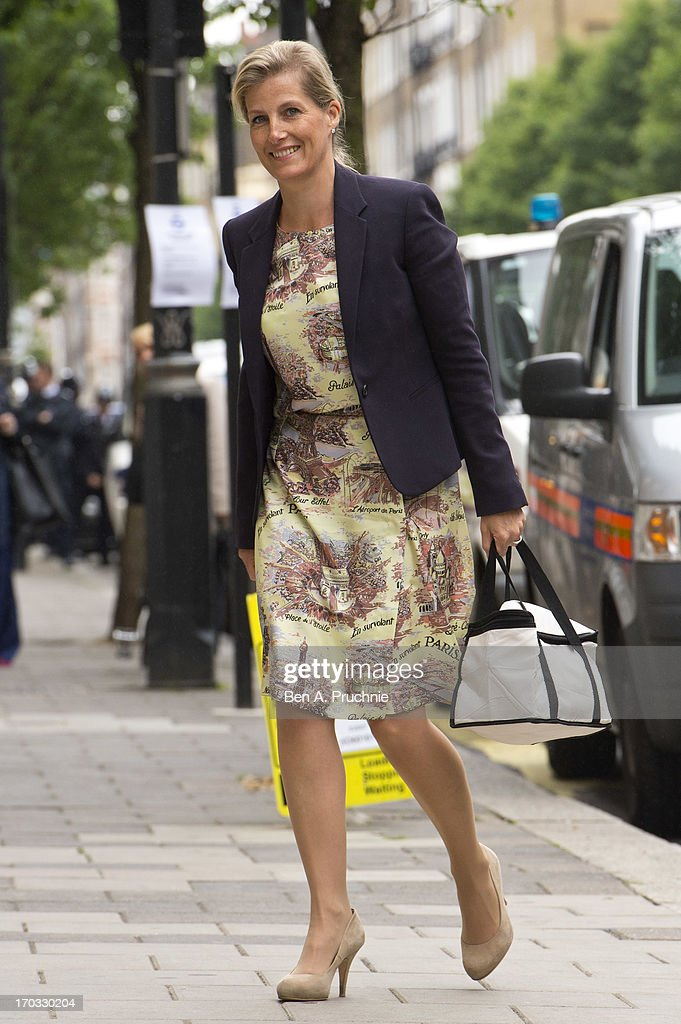 Sophie, Countess of Wessex visits Prince Philip, Duke of Edinburgh in hospital on June 11, 2013 in London, England.