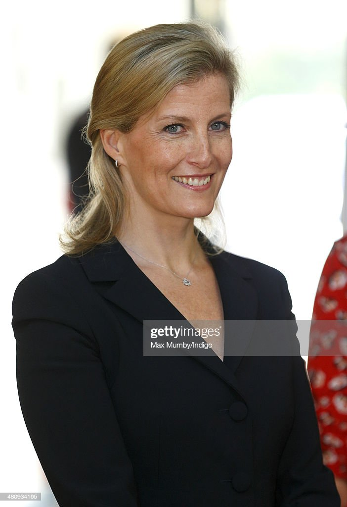 Sophie, Countess of Wessex visits the Gatten and Lake Primary School during a day of engagements on the Isle of Wight on March 27, 2014 in Shanklin, England.